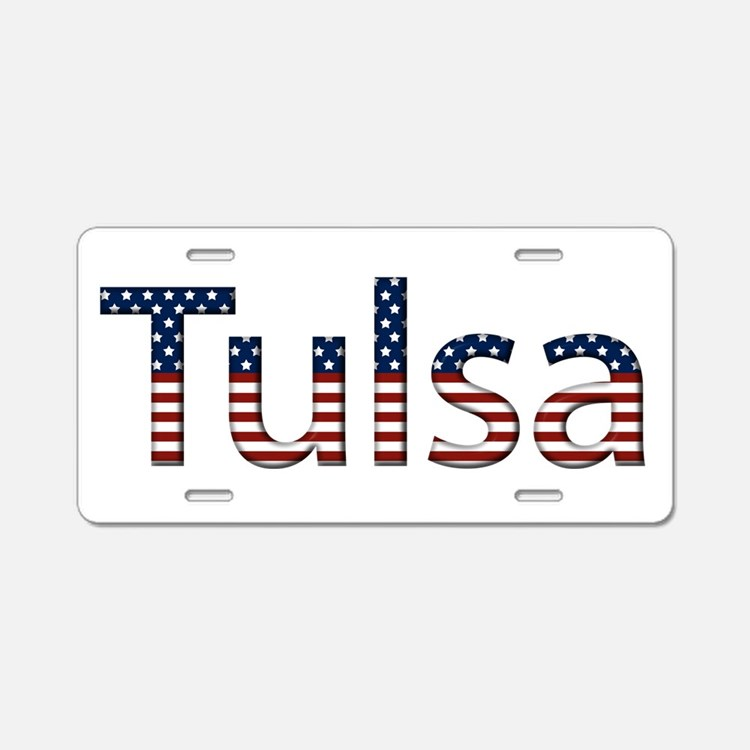 Tulsa Stars and Stripes Aluminum License Plate