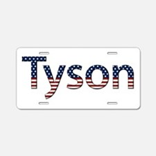 Tyson Stars and Stripes Aluminum License Plate