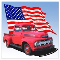 The American Pickup Truck Poster