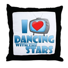 I Heart Dancing with the Stars Throw Pillow