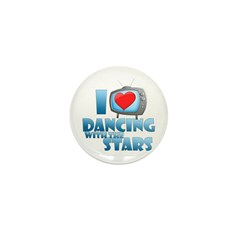 I Heart Dancing with the Stars Mini Button (10 pac