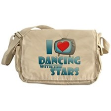 I Heart Dancing with the Stars Canvas Messenger Ba