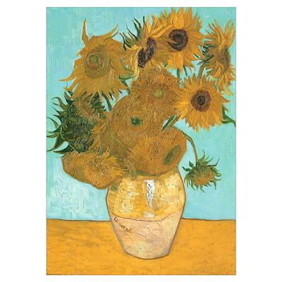 Van Gogh 12 Sunflowers Poster