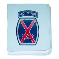 10th Mountain Division Vintag baby blanket