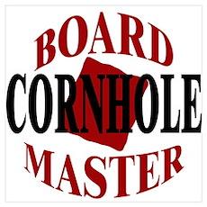 Cornhole Board Master Poster