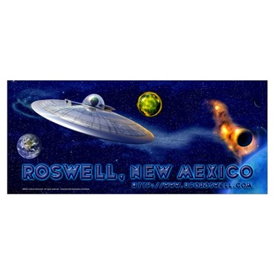 Roswell Alien Space Poster