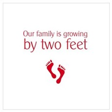 Growing by two feet Poster