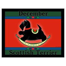 Scottish Terrier Rocking Dog Poster