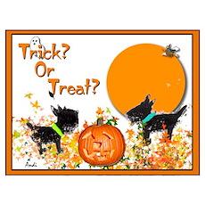 Halloween Scotties Poster