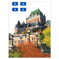 Frontenac Castle and Flag Poster