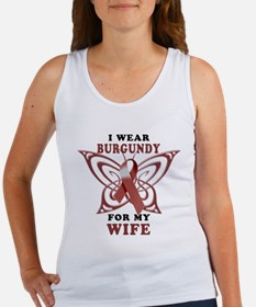 I Wear Burgundy for my Wife Women's Tank Top