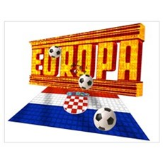 Croatian Europe Poster