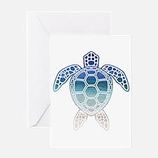 Unique Aqua Greeting Card