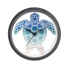 Cute Sea turtle Wall Clock