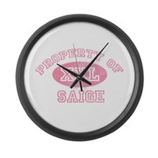 Property of Saige Large Wall Clock