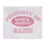 Property of Saige Throw Blanket