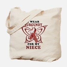 I Wear Burgundy for my Niece Tote Bag