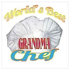 World's Best Grandma / Cook Poster