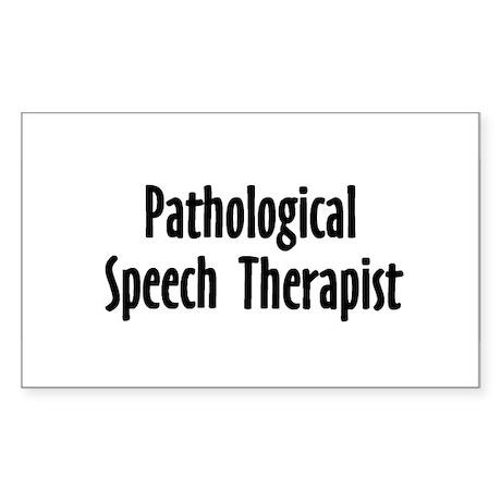 Pathological Speech Therapis Rectangle Sticker