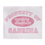 Property of Sabrina Throw Blanket