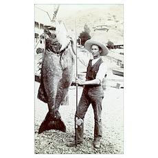19th C. Fisherman Poster