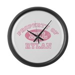 Property of Rylan Large Wall Clock