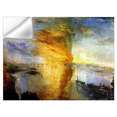The Burning of the Houses of Wall Decal