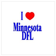 I Love (Heart) Minnesota DFL Poster