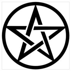 black gothic pentacle Poster