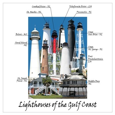 Lighthouses of the Gulf Coast Canvas Art