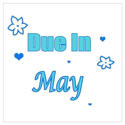 Due In May Blue Canvas Art