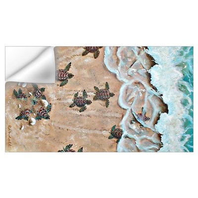 Turtle Hatchlings Wall Decal