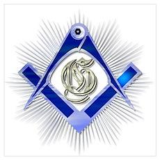 Freemasons Square & Compass 2 Poster