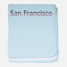 San Francisco Stars and Strip baby blanket