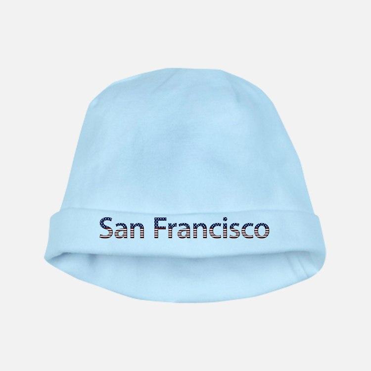San Francisco Stars and Strip baby hat
