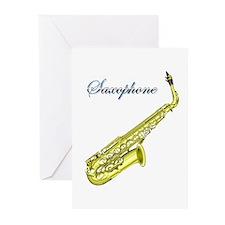 Saxophone Greeting Cards (Pk of 10)