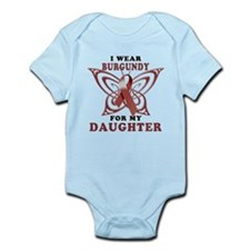 I Wear Burgundy for my Daught Infant Bodysuit