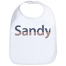 Sandy Stars and Stripes Bib
