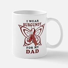 I Wear Burgundy for my Dad Mug