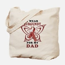 I Wear Burgundy for my Dad Tote Bag