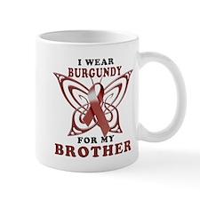 I Wear Burgundy for my Brothe Mug