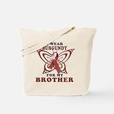 I Wear Burgundy for my Brothe Tote Bag