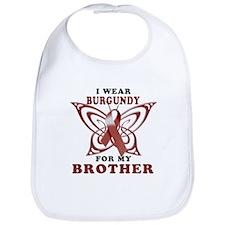 I Wear Burgundy for my Brothe Bib