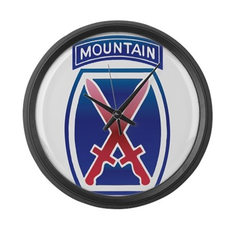 10thMountain Division Large Wall Clock
