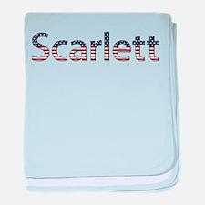 Scarlett Stars and Stripes baby blanket