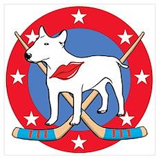 Palin Hockey Pit Bull Poster