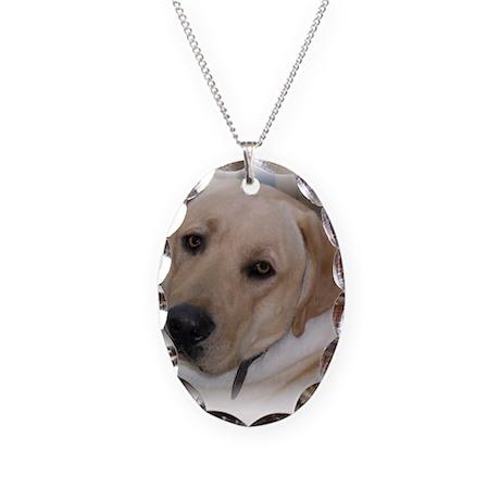 Male Labrador Retriver Necklace Oval Charm
