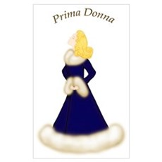Blonde Prima Donna in Midnight Blue Robe Large Pos Framed Print