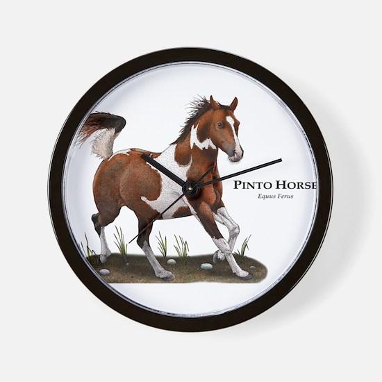 Pinto Horse Wall Clock