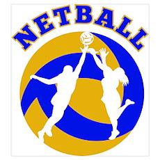 netball player rebounding Poster